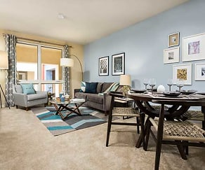 One Bedroom Apartment Living/Dining Area, Avalon Del Mar Station