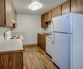 Kitchen, The Palms Apartments