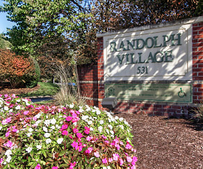 Community Signage, Randolph Village Apartments - Senior Living 62+