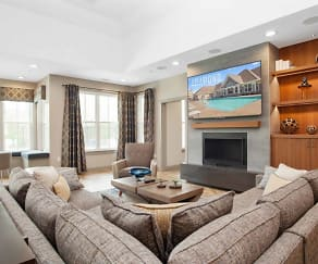 Living Room, The Residences at Great Pond