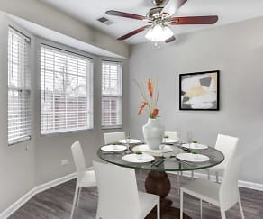 Dining Room, Lakeview Townhomes at Fox Valley