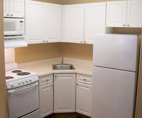 Kitchen, Furnished Studio - Detroit - Novi - Orchard Hill Place