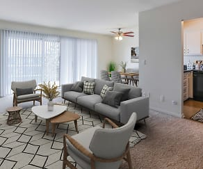 Living Room, Lake Forest Apartments