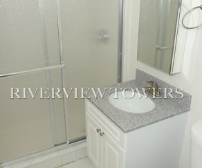 Bathroom, Riverview Towers