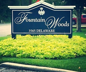 Community Signage, Fountain Woods Apartments