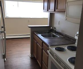 Kitchen, Urban Green Apartments