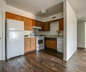 Kitchen, Carole Arms Apartments