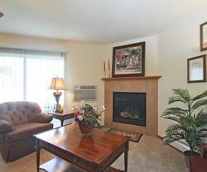 Living Room, Park Creek Apartments