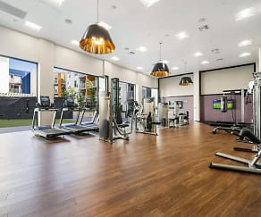 Fitness Weight Room, The Platform Urban Apartments