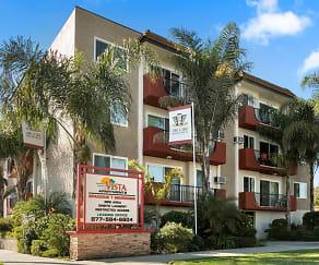 Community Signage, Vista Apartments