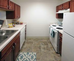 Kitchen, The Commons - Senior Housing