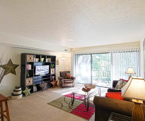 Living Room, Campus View Apartments