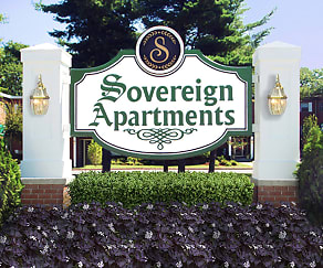 Community Signage, Sovereign & Saxony Apartments