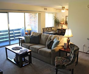 Living Room, Sharon Park Manor Apartments