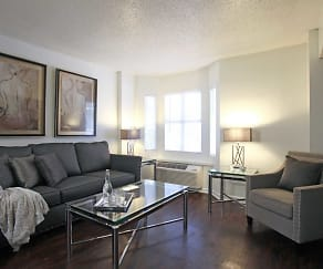 Living Room, Fountainbleau Apartments