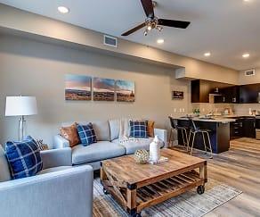 Living Room, Riverside Park Apartments
