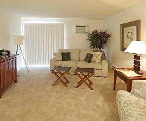 Living Room, Turtle Creek Apartments