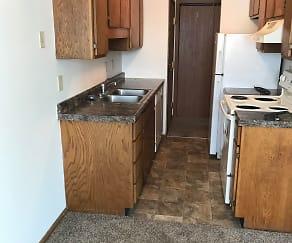 Kitchen, Campus Edge Apartments