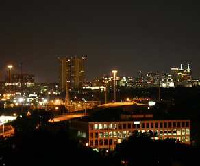 One of the Spectacular Nighttime Views of Downtown Houston from 230 West Alabama Apts (2), 230 West Alabama Apartments