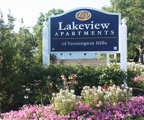 Community Signage, Lakeview Apartments of Farmington Hills