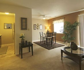 Living Room, Beech Grove Village Apartments