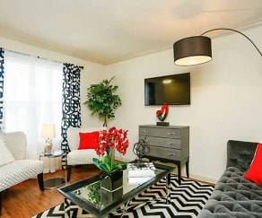 Magnolia Living Room, Upland Park Townhomes