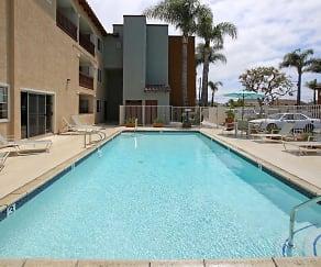 Pool, Huntington Breeze Senior Apartments