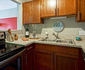 Kitchen, Axis Apartments and Lofts