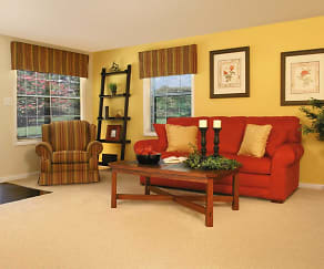 Living Room, Spring Hill Apartments and Townhomes