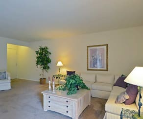 Living Room, Perry Hall Apartments