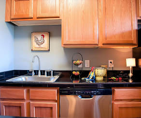 Kitchen, The Crossing at 2600 Apartments