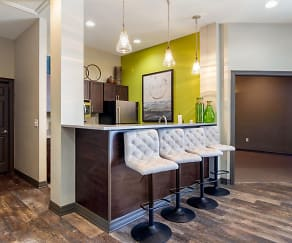 Clubhouse Kitchen Area, Legacy Heights Apartments