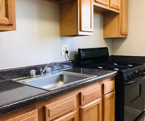 Kitchen, Regency Court Apartments