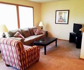 Living Room, Twin Oaks Townhomes