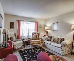 Living Room, Washington and Lee Apartments