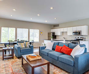Living Room, Deerfield Townhomes