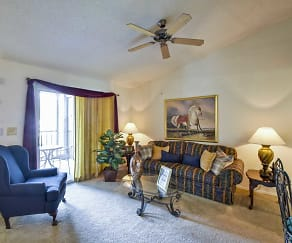Living Room, Colonial Pointe Apartments