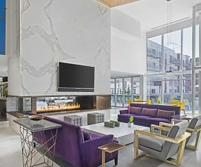 Living Room, The Scott at Brush Park