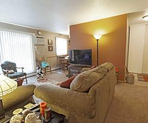 Living Room, Royal Oaks Apartments