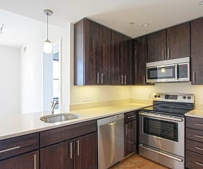 Kitchen, Griffin Apartments at Petworth Metro