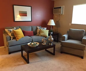 Living Room, Fox Run Apartments