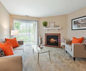 Living Room, Hunt Club Apartments