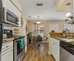 Kitchen, Dwell Stadium View Apartments - Per Bed Lease