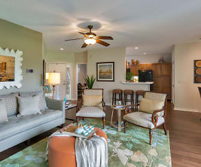 Living Room, Golf Brook Apartments at Sabal Point