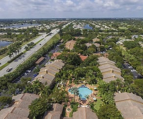 Aerial View of Quiet Waters at Coquina Lakes, Quiet Waters Apartment Homes