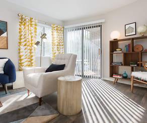 Living Room, Clover Creek Apartments