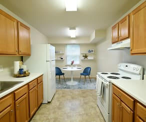 Kitchen, Woodridge Apartments