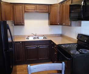 Kitchen, Citron Apartments