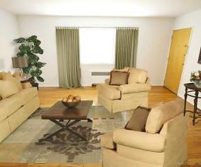Living Room, Raritan Landing Apartments