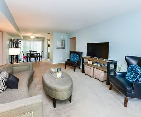 Living Room, Brookside Manor Apartments & Townhomes